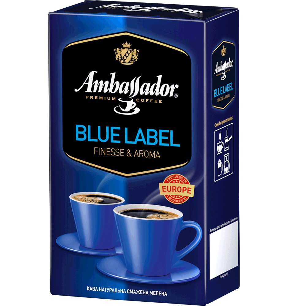 Ambassador Blue Label молотый 250г /450 г