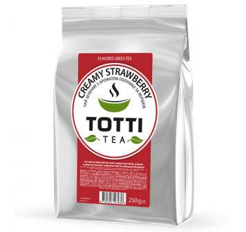 TOTTI TEA Green Creamy Strawberry 250 g